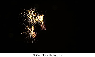 happy valentine's day sparkler animation last 5s loopable