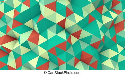 geometric 3D render polygonal surface seamless loop...