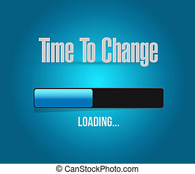 time to change loading bar sign isolated concept...