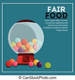 candys sphere fair food snack carnival icon - candy sphere...