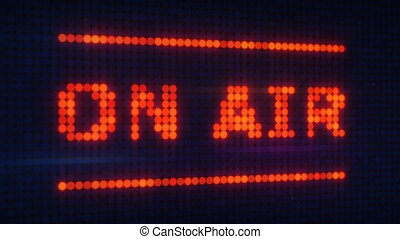 on air signboard in sound studio animation