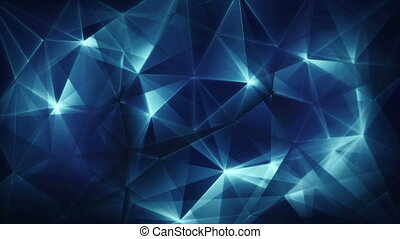 dark blue triangles web abstract background loop
