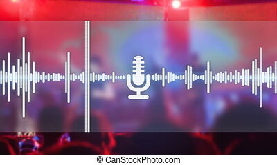 music party background seamless loop - equalizer and concert...