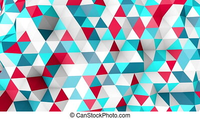 colorful polygonal surface moving seamless loop - colorful...