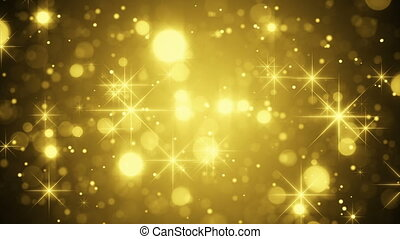 gold bokeh and sparkles loop