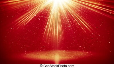 red light beams and particles loopable background - red...