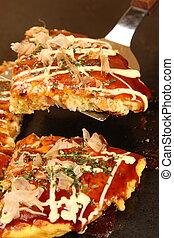 """OKONOMIYAKI - Typical Japanese Food """"OKONOMIYAKI"""""""