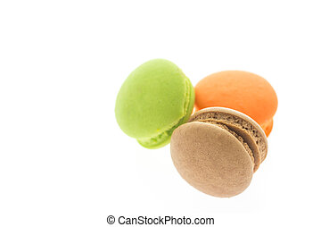 macaroons white color background