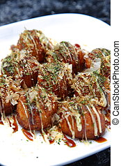Octopus Balls - Japanese food Octopus Balls TAKOYAKI