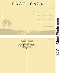 Reverse side of the card Vintage Afghanistan - The reverse...
