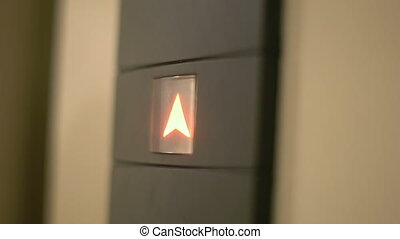 Pressing elevator button close-up - Pressing elevator button...