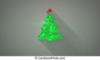 glowing christmas tree shape loopable animation - glowing...