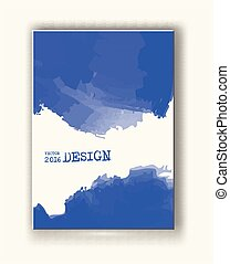 Abstract inkblot background - Abstract stylish Brochure blue...
