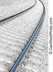 Bending rails and railway sleepers cornering - Bending rails...