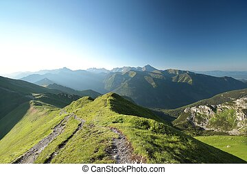 Tatra Mountains - Panorama of the Western Tatras, Carpathian...