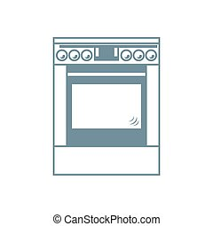 Stylized icon of a colored cooker