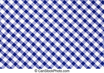 checkered tablecloth - photo shot of the blue checkered...
