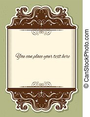 Antique background scroll with decor vignettes