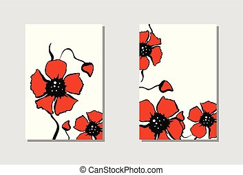 Vibrant floral vertical banners.