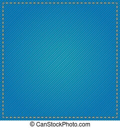 Blue Jeans Fabric Pattern - Vector stock of blue denim jeans...