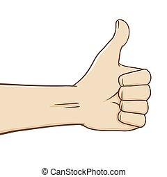 Hands Thumbs Up Vector