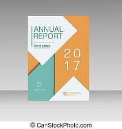 Vector brochure design template.