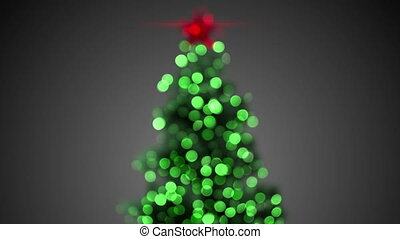 blurred christmas tree loopable