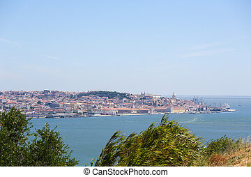 View on the center of Lisbon, Portugal