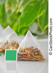 Pyramid tea bag