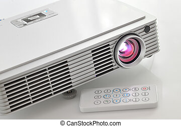 led projector - Portable led projector on white table