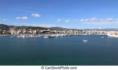 Palma de Mallorca harbor filmed fro - DSLR Full HD...