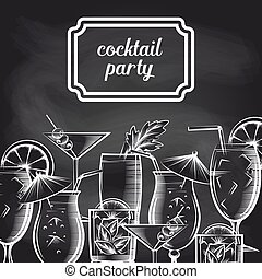 Cocktail party chalkboard background