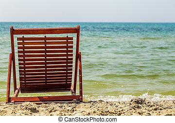 chair on the beach, summer holiday,