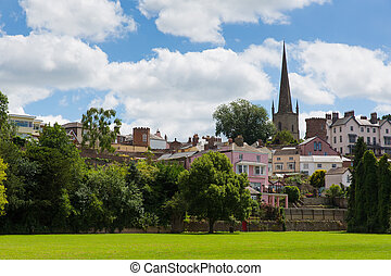Ross-on-Wye the Wye Valley park - Ross-on-Wye town in the...