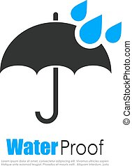 Water proof logo isolated on white background