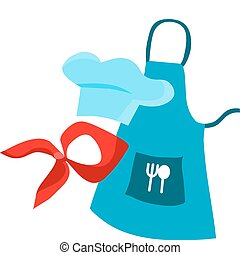 chefs work clothes, vector illustration