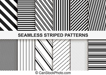 Striped seamless patterns collection.