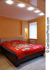 Bedroom interrior - Modern bedroom. Shoot of the interrior...