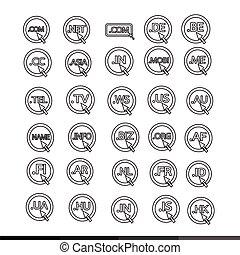 Domain Dot illustration design