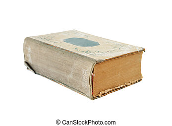 Old book on a white background - Thick old book isolated on...