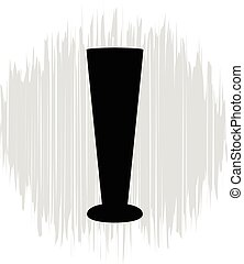 Bottle and glasses silhouette vector