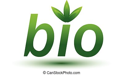 Bio Green sign isolated on white background. Vector