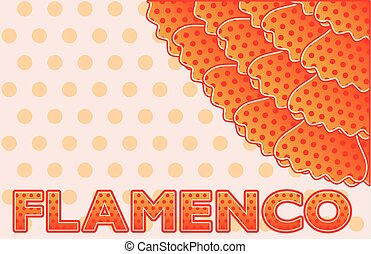 Flamenco party greeting card, vector illustration