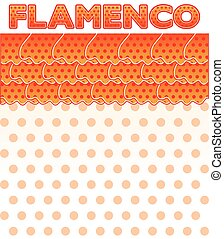 Flamenco party card, vector illustration