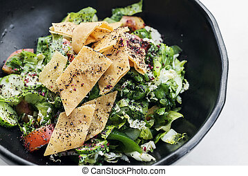 fatoush fattoush traditional classic lebanese middle eastern...