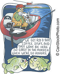 Fishing and Coffee - Fish talking about removing coffee from...