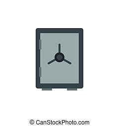Safe icon in flat style on a white background