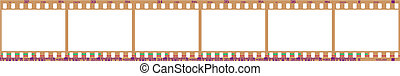 negative filmstrip frames - 35mm negative frames, with...