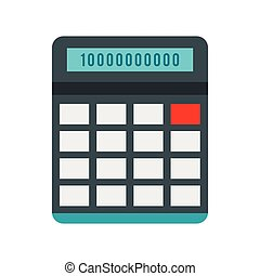 Calculator icon in flat style on a white background