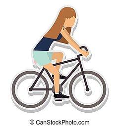 person figure athlete bike ride sport icon